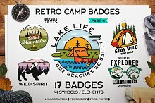 Retro Camp Badges / Patches. Part 4 by  in Logos
