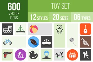 600 Toy Set Icons