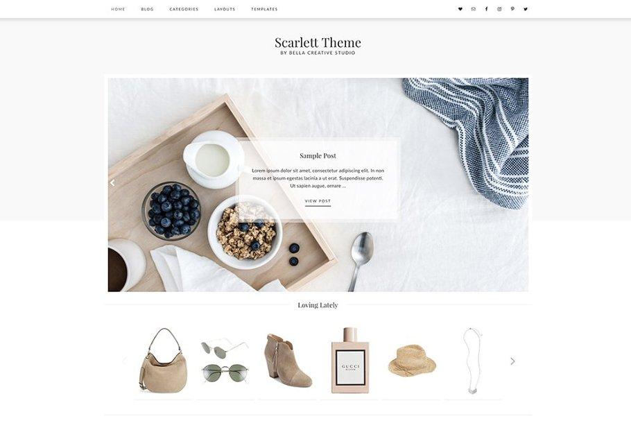 Scarlett - WordPress Theme