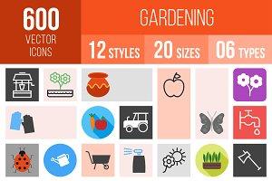 600 Gardening Icons