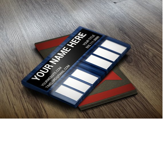 Doctor Who Tardis Business Card Templates Creative Market