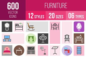 600 Furniture Icons