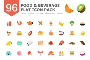 96 Food&Beverage Color Flat Icon