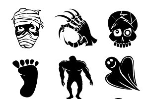 Ghost, ghouls and alien silhouettes