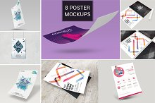 8 Poster / flyer Mockup Bundle Vol_1
