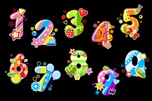 Colorful children numbers and digits