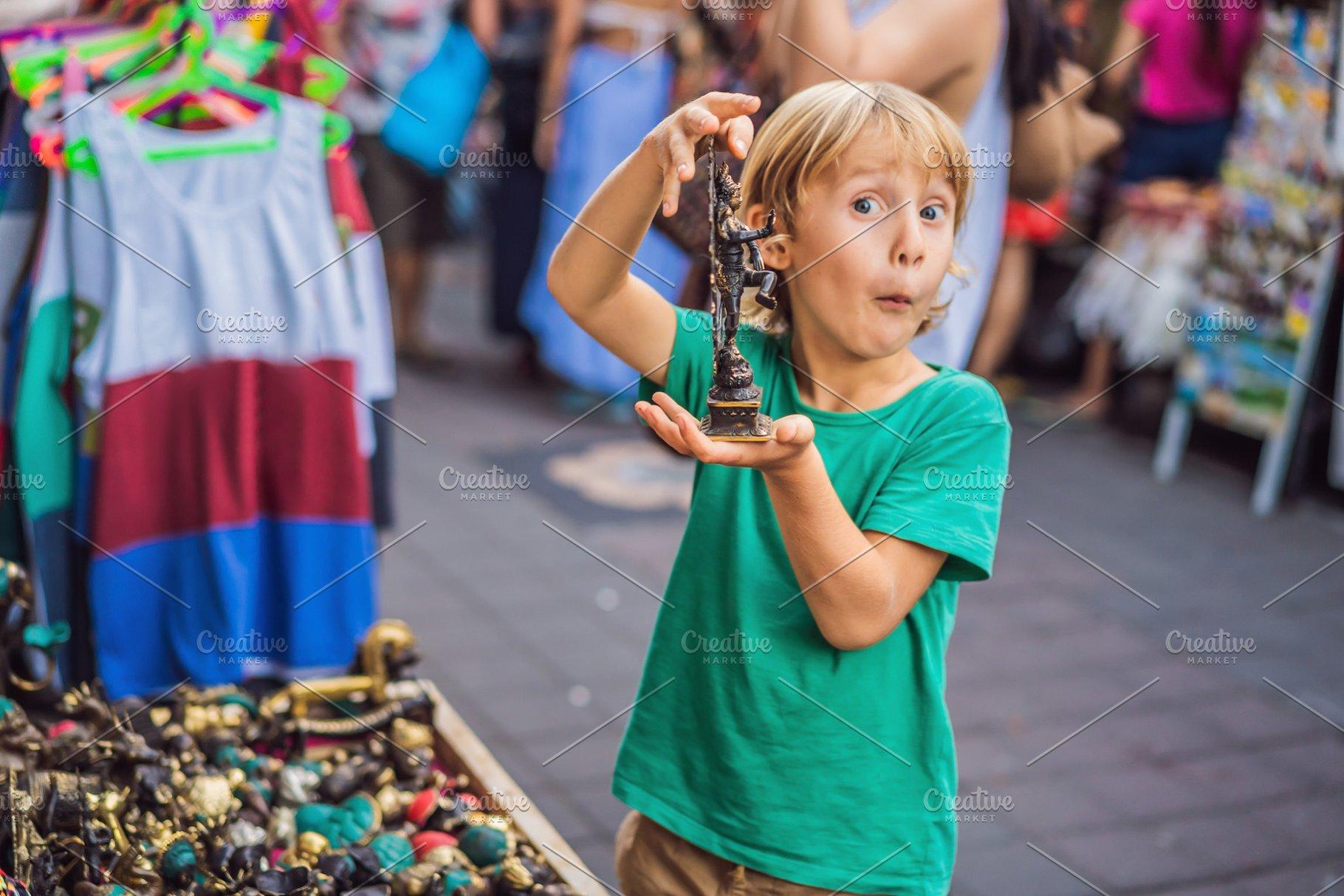 Boy at a market in Ubud, Bali