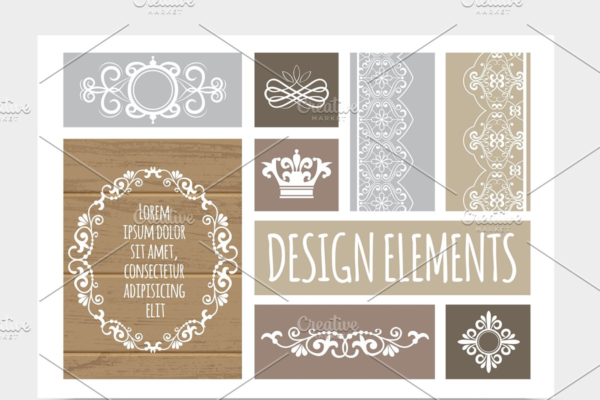 Vintage Design Composition Custom Designed Icons Creative Market