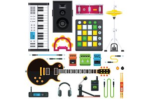Rock And Pop Music Instruments