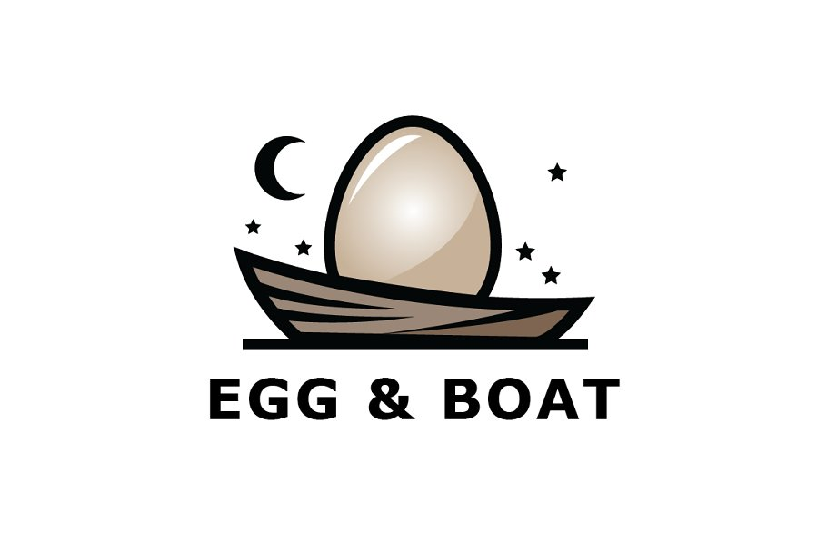 Egg on The Boat Logo Template
