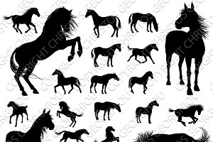 Horse Vector Silhouettes