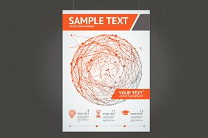 Abstract Red Sphere Brochure Design