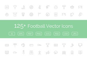 125+ Football Vector Icons