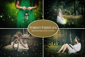 Forest Fireflies photo overlays