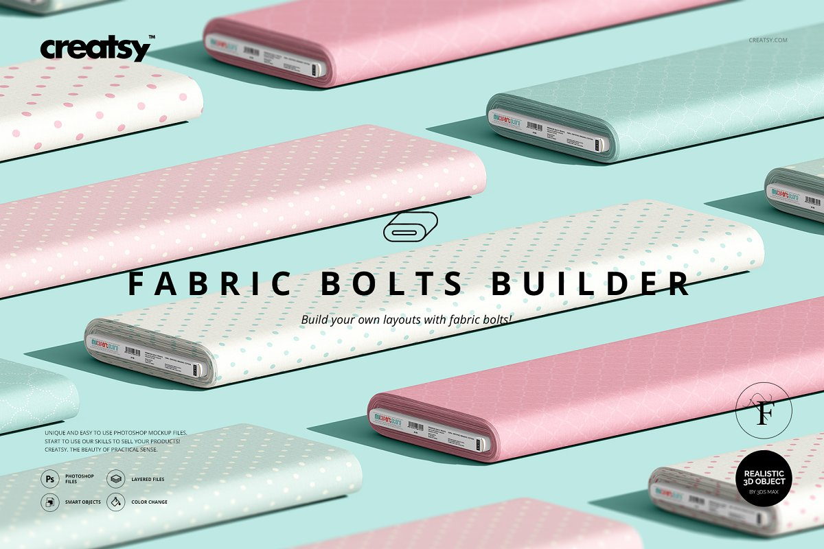 Fabric Bolts Builder Mockup Set