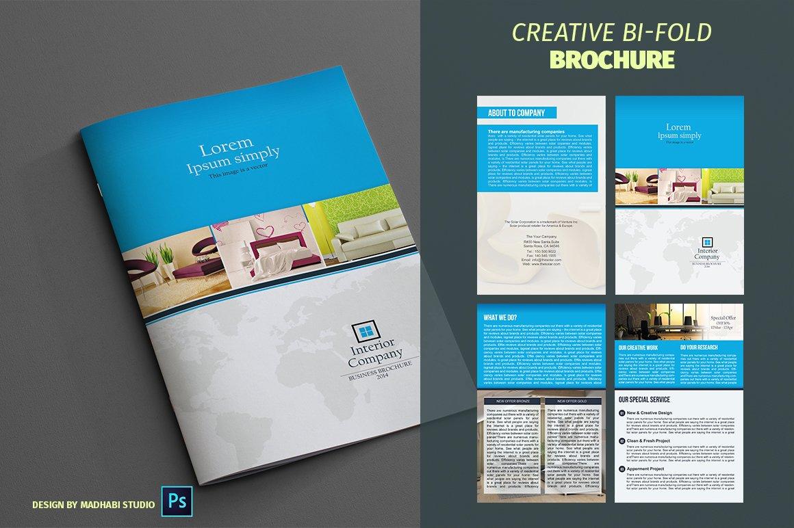 Interior Bifold Brochure Template Brochure Templates Creative Market - Bifold brochure template