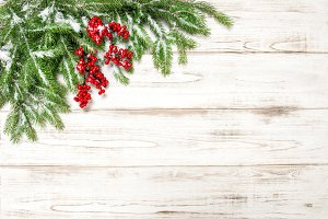 Winter holidays background