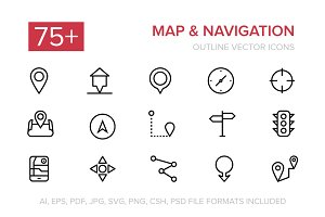 75+ Navigation Vector Icons