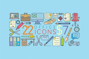 22 Great Office Icons