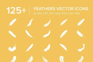 125+ Feathers Vector Icons