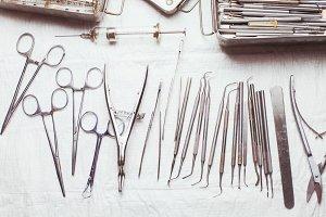 Vintage dental instruments