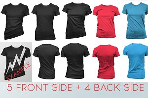 Various T-shirt Mockup For Women