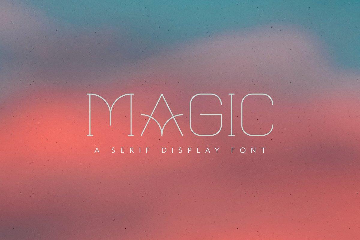 Magic – All Caps Serif Display Font