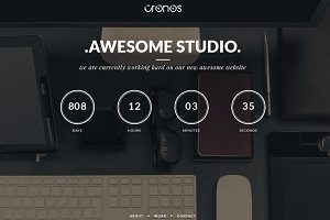 Cronos – Coming Soon Wordpress Theme