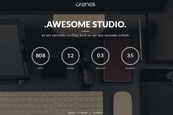 WordPress Landing Page Themes: MatchThemes - Cronos – Coming Soon Wordpress Theme