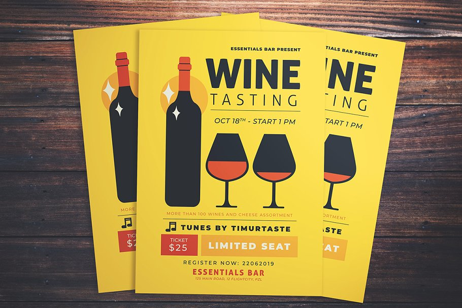 Wine Tasting Event Flyer