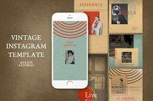 Vintage Instagram Templates by  in Social Media