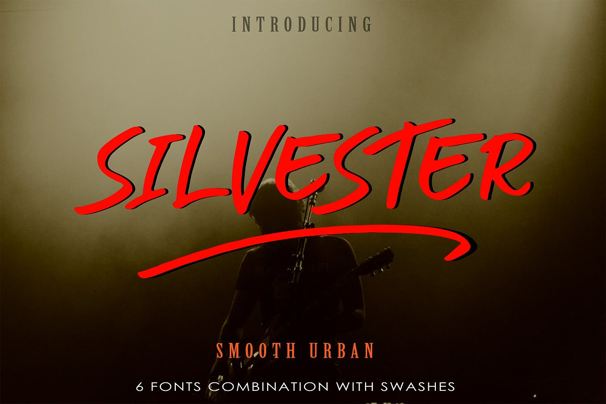 Silvester | 6 Fonts Smooth Urban
