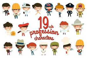 19 cute profession characters