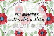 Red Anemones Pattern