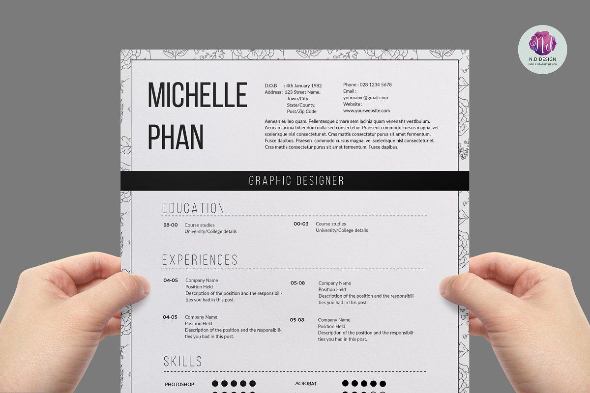 Modern 1 page resume ~ Resume Templates ~ Creative Market
