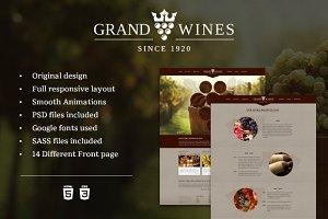 Grand Wines - Premium Template