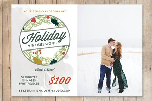 Holiday Mini Sessions Template