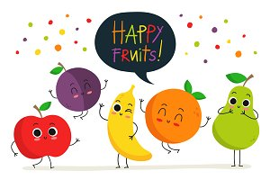 Cute happy fruits! :)