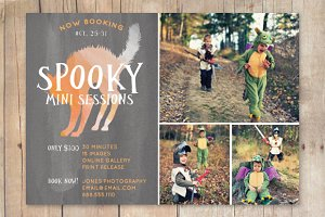 Halloween Mini Session Template Fall