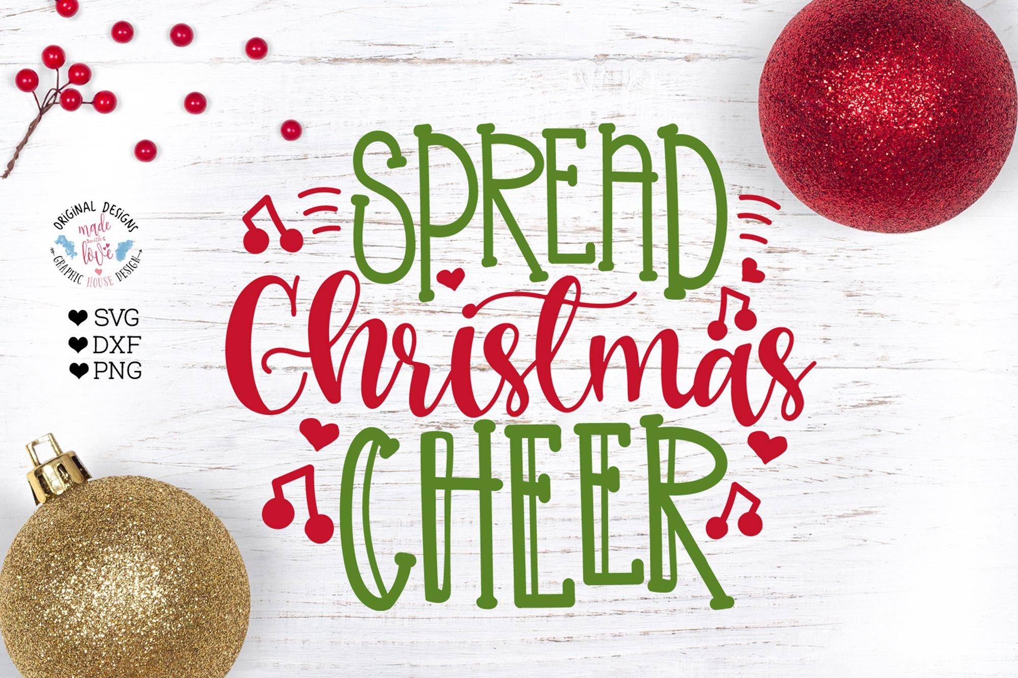 Spread Christmas Cheer Pre Designed Photoshop Graphics Creative Market