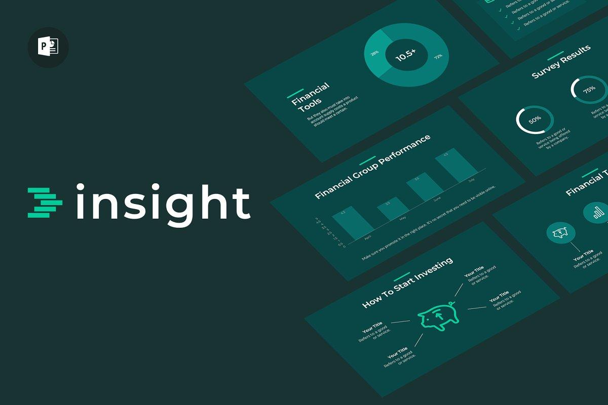 Insight Finance Powerpoint Template Powerpoint Templates