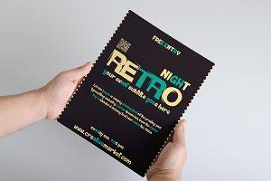 Retro style flyer