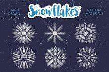 Christmas set. SNOWFLAKE. Winter.