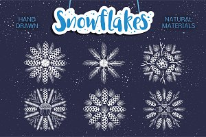 Christmas set. SNOWFLAKE. Winter.