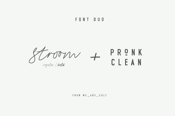 Stroom & Pronk Font Duo