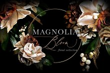 Magnolia Bloom Flowers & Monograms