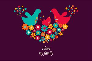 "Illustration ""I love my family"""