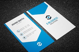 Vertical Business Card Template 04