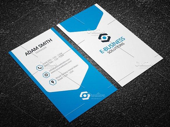 Vertical Business Card Template 04