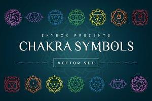 Chakra Symbols Vector Set